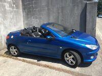 Convertible Peugeot 206cc 2004 77024 miles, 12 months MOT manual petrol