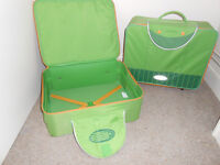 2 Small Sammies Suitcases by Samsonite with wheels