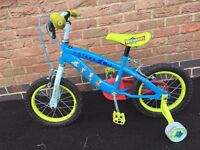 """Toy Story Kids 14"""" Bicycle with stabilisers"""