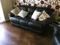 3 seater leather reclining sofa for sale