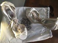 Faith bridal shoes.