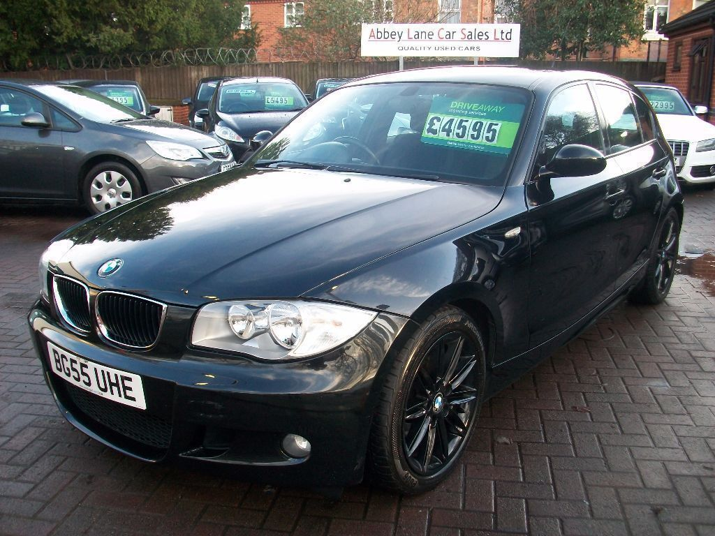 bmw 1 series 1 6 116i m sport 5dr 2006 55 reg hatchback black full service history in. Black Bedroom Furniture Sets. Home Design Ideas