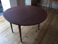 Sturdy round drop leaf dining table seat 6/8 £12