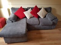 Corner sofa grey chaise couch