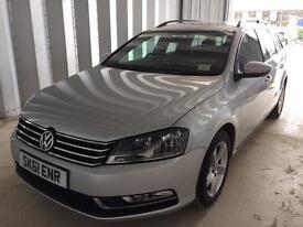 2012 61 Plate Volkswagen Passat 1.6 Tdi Bluemotion Technology Estate