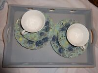 Butterfly home by Matthew Williamson tea cup and saucer set with tray