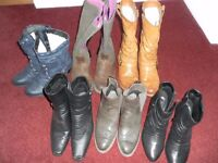 Ladies boots 6 pairs size 6