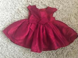 Mothercare Baby girl Christmas dress 3-6 months