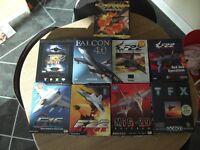 Flight Simulators - Retro PC Gaming - Falcon 4.0 (big box) and more