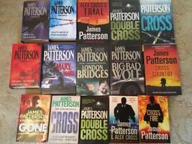 Alex Cross James Patterson x 15 books