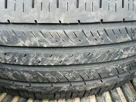 2 Part worn tyres good tread
