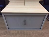 desk high tambour cupboards comes with 1 shelve