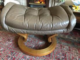Ercol leather foot stool