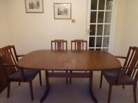 Dining Table, 6 Chairs and Sideboard. VGC