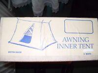 Awning inner tent.