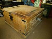Deep wooden chest