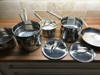 Meyer Professional Stainless Steel Pans with Extras