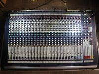 Soundcraft GB2-24 (GB2-24+2)Mixing Desk/console with Flight case and 2x LED Lamp