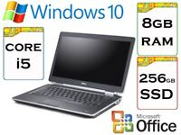 EXTREMELY QUICK - Dell Latitude e6420 i5 2.6 Ghz 8gb Ram 256gb SSD Windows 10 Laptop