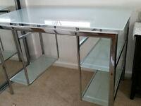 glass computer deesk top
