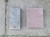 BLUE AND RED PAVERS - FREE TO COLLECT