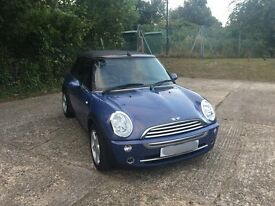 Mini Cooper Convertible 1.6 - Excellent Condition, Low Milage