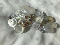 Vintage handmade one off bridal button hair piece