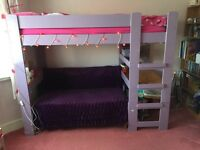 Stompa high sleeper with pullout double bed & desk