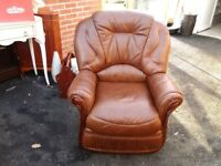 Leather arm chair.