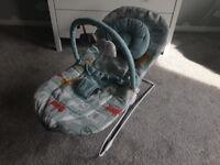 Mamas & Papas duck egg blue animal print bouncer chair