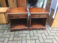 Pair of pine bedsides in good solid condition