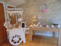 Vintage Tea Party Baby Shower Business For Sale Inc 2 x Candy Carts