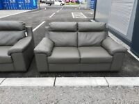 2x Ex-Display Two Seater Leather Sofas