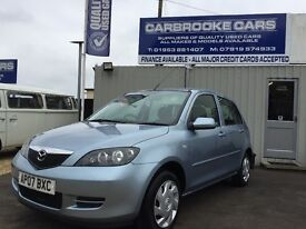 2007 07 MAZDA 2 - 1.4 - 76,000 MILES FSH - 12 MONTHS MOT - LOVELY GENUINE CAR - WARRANTY .