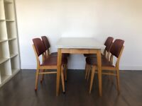 Vintage Dining Table and Chair Set