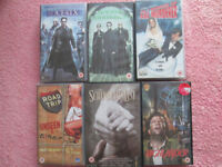 15 rated VHS tapes/dvd
