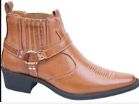 Mens Western Cowboy Boots, size 7 8 9 10 11 12