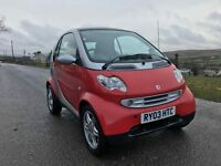 2003 SMART FORTWO PASSION 61 AUTO 48K FSH £30 TAX 6SP