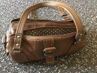 Tan colour hand bag