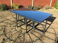 All Weather Rattan 6 Seater Table Brand New