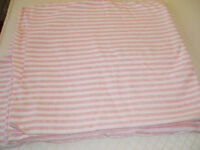 Pink/White Cotton Jersey Fabric - Never Used