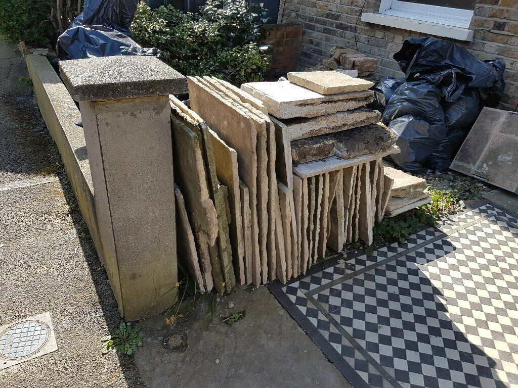 Paving Slabs Indian Sandstone Close To Finsbury Park