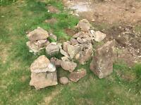 Rockery stones / rocks and hardcore