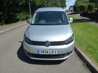 2014 SILVER VOLKSWAGEN CADDY 1.6 TDI C20 HIGHLINE, PANEL VAN 4 Dr, Manual, Diesel