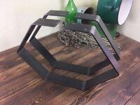 Rustic steel hexagon coffee table leg Handmade Various finishing types
