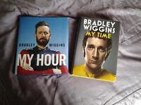 2 Hardback books on BRADLEY WIGGINS.