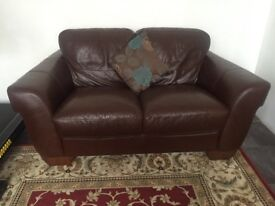 Luxury and comfortable brown leather set of sofas