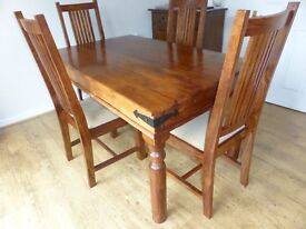 John Lewis Maharani Dining room table and 4 chairs