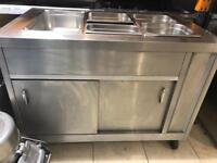 Hot Bain Marie wet free standing with Hot Cupbord Commercial Resturat