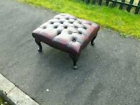 Beautiful ox blood red Chesterfield foot stool